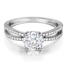 Henri Daussi diamond engagement ring